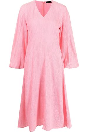 STINE GOYA Rosen crinkled midi dress