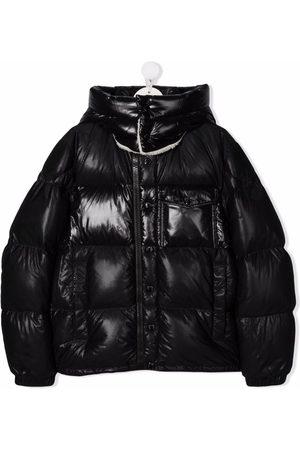 Moncler High-shine logo-print puffer jacket