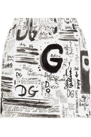 Dolce & Gabbana All over logo-print mini skirt