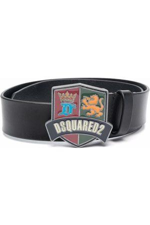 Dsquared2 Menino Cintos - Logo-buckle leather belt