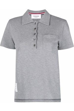 Thom Browne Senhora Pólos - Chest patch pocket polo shirt
