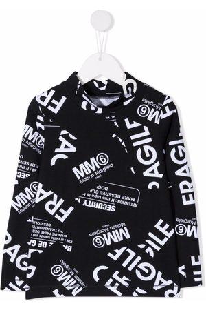 MM6 KIDS Menina T-shirts & Manga Curta - Fragile-print fleece top