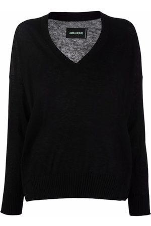 Zadig & Voltaire Senhora Camisolas - Friday V-neck cashmere jumper