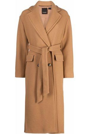 Pinko Senhora Casacos de Inverno - Double-breasted midi coat