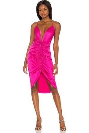 NBD Annalisa Midi Dress in - Fuchsia. Size L (also in M, S, XL, XS, XXS).