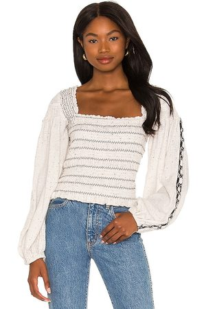 Free People Senhora Tops de Cavas - Maggie Embroidered Top in - . Size L (also in M, S, XS).