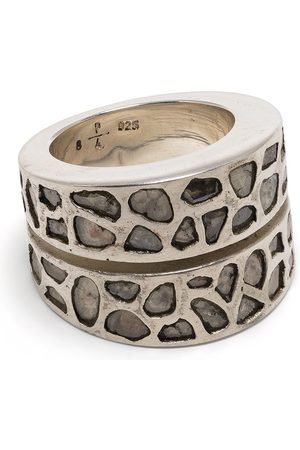 PARTS OF FOUR Anéis - Diamond encrusted sterling ring