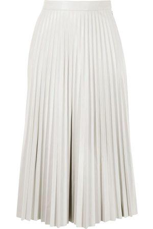 PROENZA SCHOULER WHITE LABEL Senhora Saias de Pele - Pleated faux-leather skirt