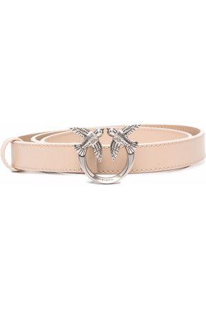 Pinko Love Birds logo buckle belt