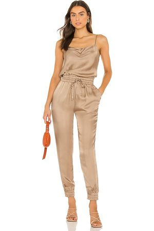 Cinq A Sept Finnley Jumpsuit in - Taupe. Size L (also in M, S, XS).