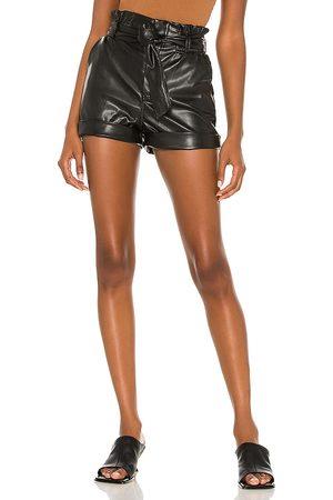 superdown Kenzie Faux Leather Short in - . Size L (also in M, S, XL, XS, XXS).