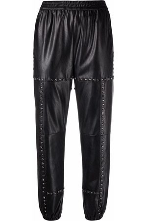 Pinko Senhora Calças - Stud-embellished trousers