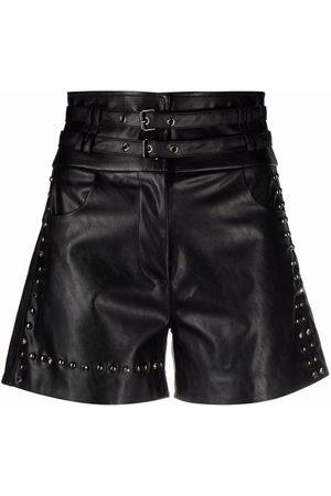 Pinko Senhora Calções - Stud-embellished shorts
