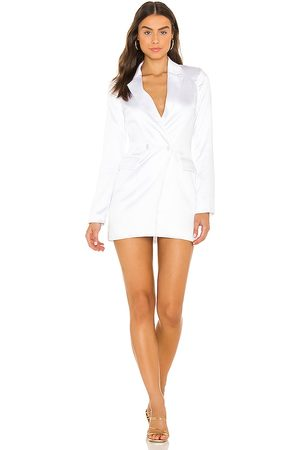 superdown Miley Oversized Blazer in - White. Size L (also in M, S, XL, XS, XXS).