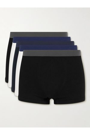Hamilton and Hare Five-Pack Seamless Cotton Boxer Briefs