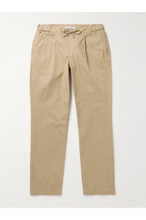 Saman Amel Stretch-Cotton Drawstring Trousers