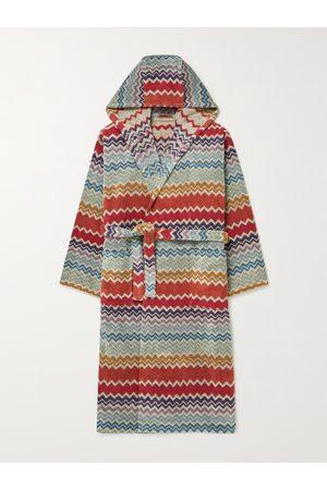Missoni Rufus Cotton-Terry Jacquard Hooded Robe