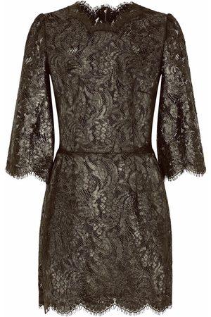 Dolce & Gabbana Senhora Vestidos de Festa - Floral-lace sheer minidress