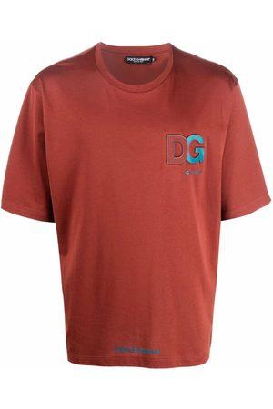 Dolce & Gabbana Homem T-shirts & Manga Curta - Logo-embossed T-shirt