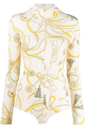 Emilio Pucci Senhora Bodies interiores - Chain-print hooded body