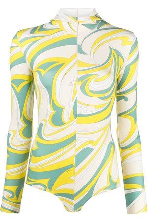 Emilio Pucci Vortici-print hooded body