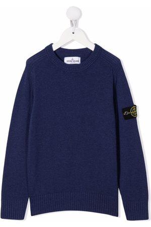 Stone Island Menino Camisolas sem capuz - Logo-patch sweater
