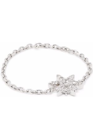 DJULA Senhora Colares - 18kt white gold Sun diamond chain ring