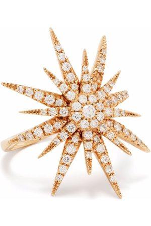 DJULA Senhora Anéis - 18kt rose gold Big Sun diamond ring