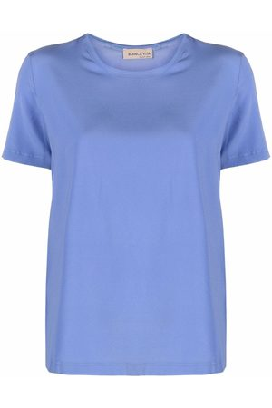 BLANCA Senhora T-shirts - Silk-blend T-shirt