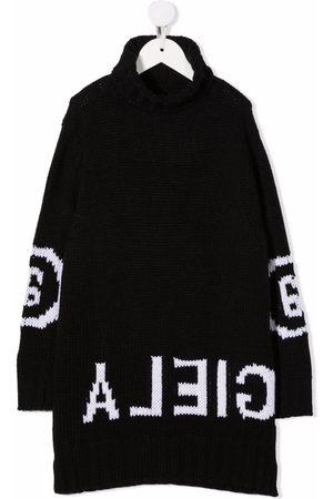 Maison Margiela Menino Camisolas - Reverse intarsia-knit logo jumper