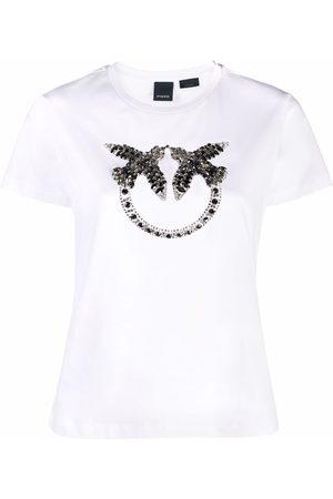 Pinko Senhora T-shirts - Logo-embellished T-shirt