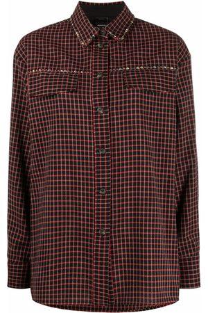 Pinko Check-print studded shirt