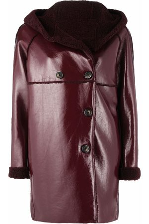 Pinko Hooded double-breasted coat