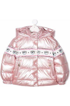 Chiara Ferragni Logomania-tape puffer jacket