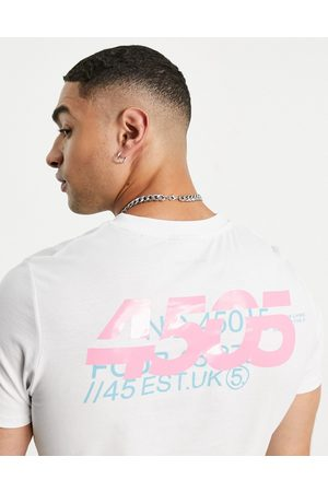 ASOS Homem T-shirts & Manga Curta - T-shirt with relaxed fit and back print-White