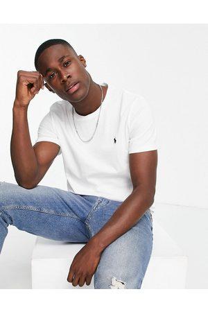 Polo Ralph Lauren Homem T-shirts & Manga Curta - Lounge t-shirt in white with logo