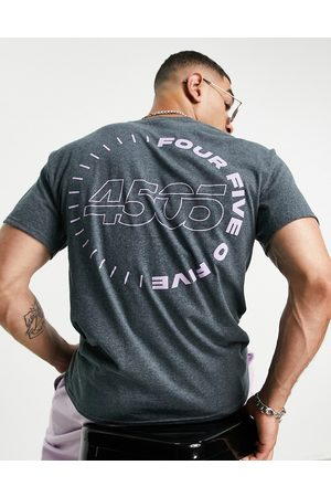 ASOS Homem T-shirts & Manga Curta - T-shirt with relaxed fit and back print-Grey