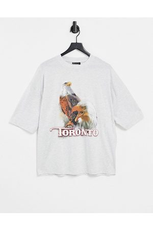 ASOS Homem T-shirts & Manga Curta - Oversized t-shirt in white with vintage print