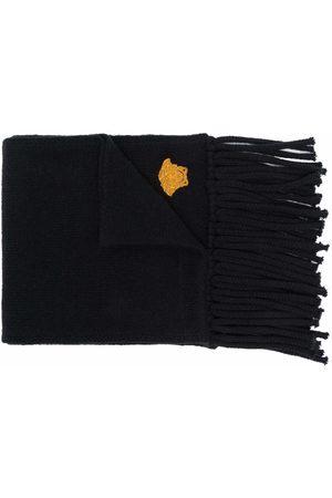 VERSACE Homem Cachecóis & Echarpes - Embroidered-motif fringed-edge scarf