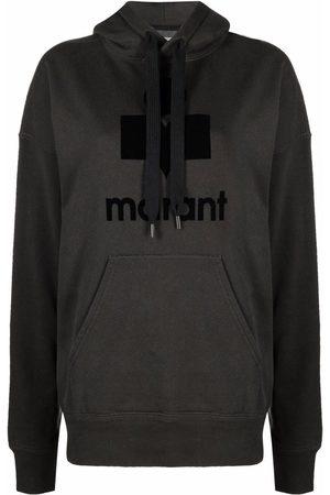 Isabel Marant Senhora Tops de Cavas - Mansell logo-print hoodie