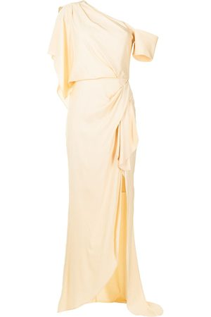 MANNING CARTELL Asymmetrical Games one-shoulder gown