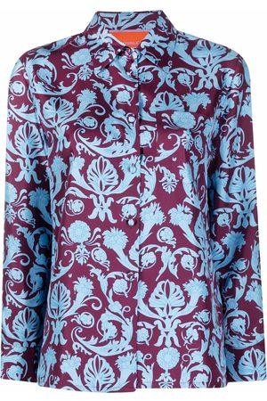 La DoubleJ Baroque print silk shirt