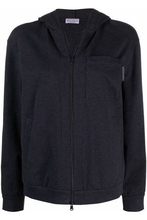 Brunello Cucinelli Long-sleeve zip-fastening hoodie