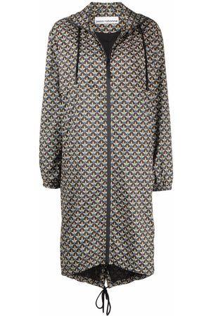 Paco rabanne Geometric naval-pattern raincoat