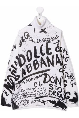 Dolce & Gabbana Logo intarsia virgin wool jumper