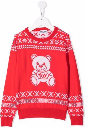 Moschino Teddy bear-motif wool jumper