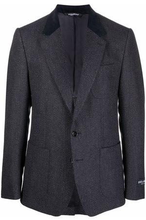 Dolce & Gabbana Homem Blazers - Contrast-lapel blazer