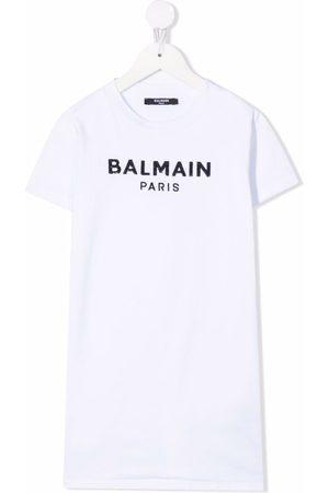 Balmain Logo-print T-shirt dress