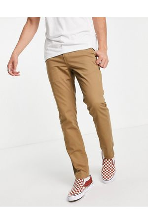 Vans Homem Calças Chino - Authentic slim fit chino trousers in brown