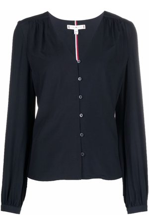 Tommy Hilfiger Drape-detail V-neck blouse
